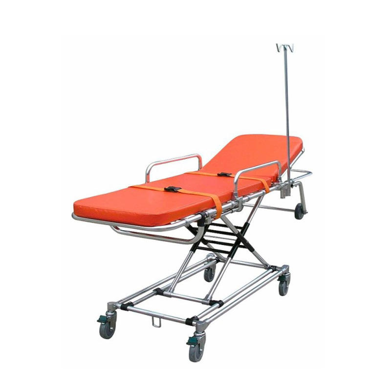 Buy Used China Automatic Loading Ambulance Stretcher Trolley Low Cost For Patient Transfer