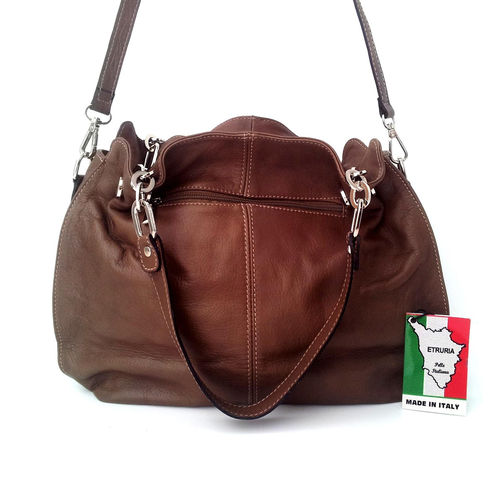 genuine leather soulder bag made in italy