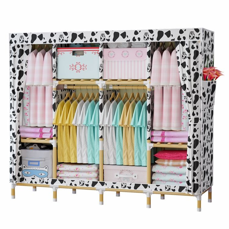 Colorful hot design cheap folding cloth assemble style plastic clothes wardrobe for bedroom