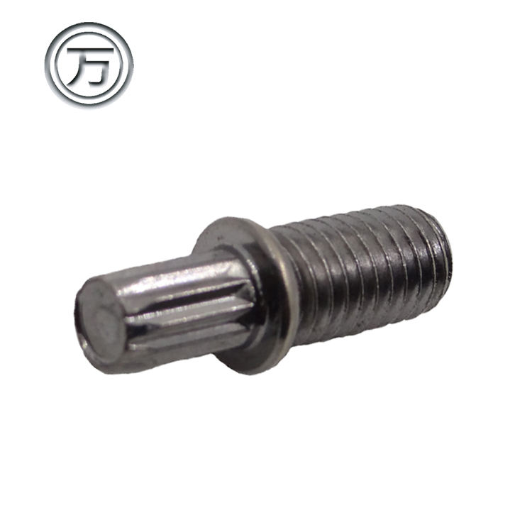 1 1/4 5/16 non threaded nickel plated brass screw