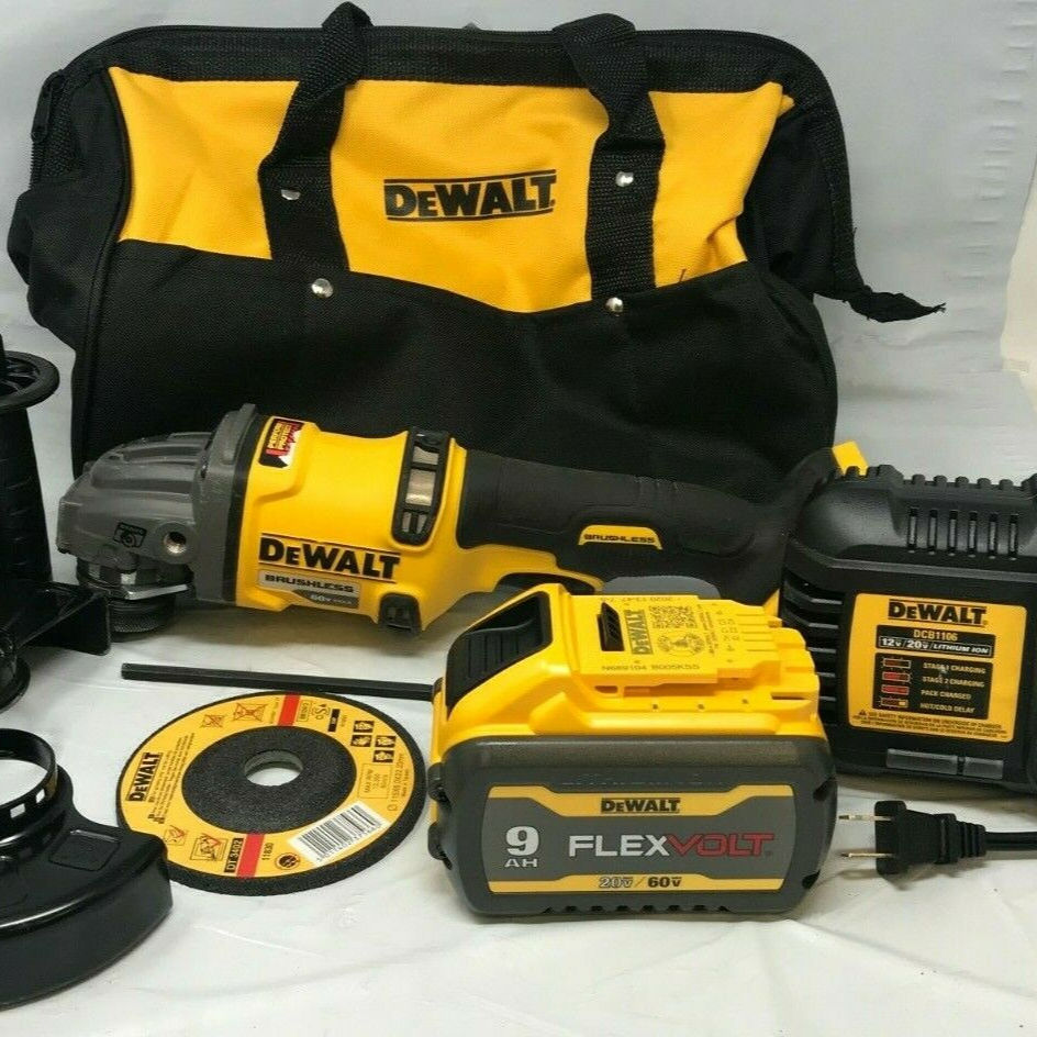 "DeWALTs nuovo di marca DCG418X1 FlexVolt 60V MAX 4-1/2 - 6 ""Cordless Brushless Angle Grinder N"