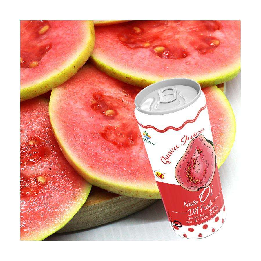 Canned tinplate fruit juice Red Guava/Health drinking/Wholesale price