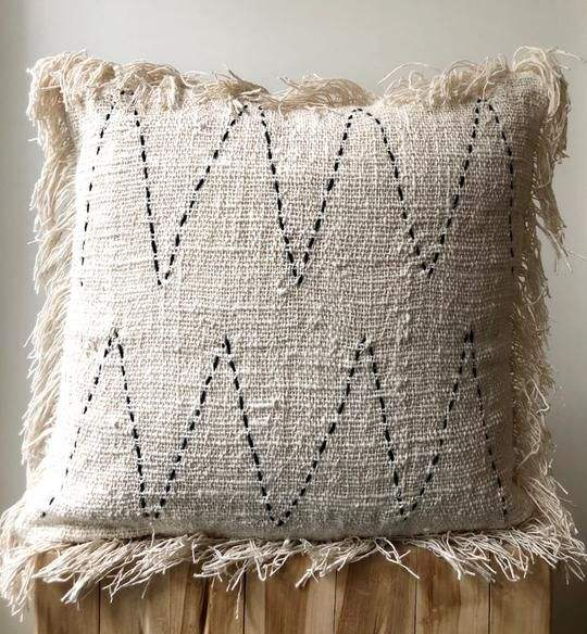100% Cotton Decorative Chevron Pillow Cover Cushion Case With Tassel