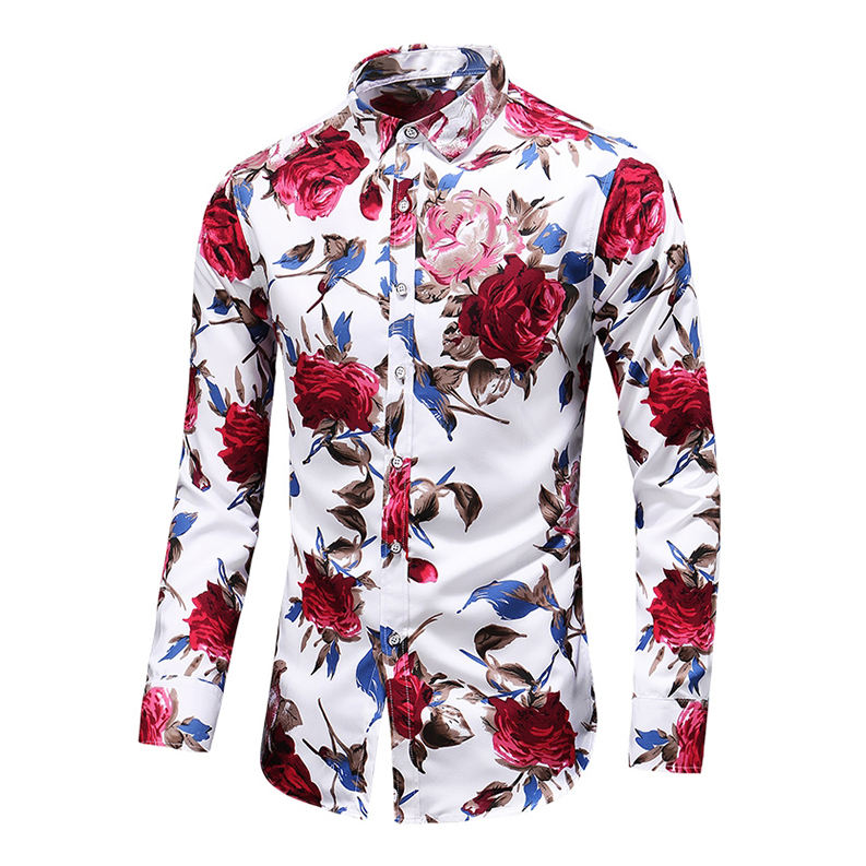 New design custom printed top quality best selling printed shirt for men's
