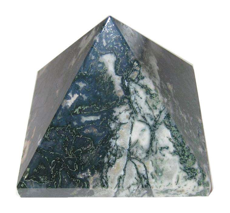Latest Moss agate Crystal Pyramid Bulk Dealer Of Genuine Quality Crystal Pyramid Healing Decoration