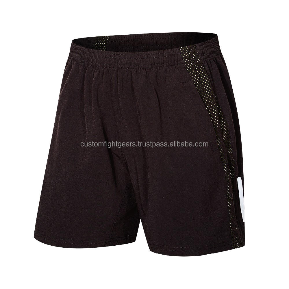 Hot Selling Groothandel Custom Logo Polyester Mens Sport Gym Sweat Shorts Custom Mesh Workout Shorts