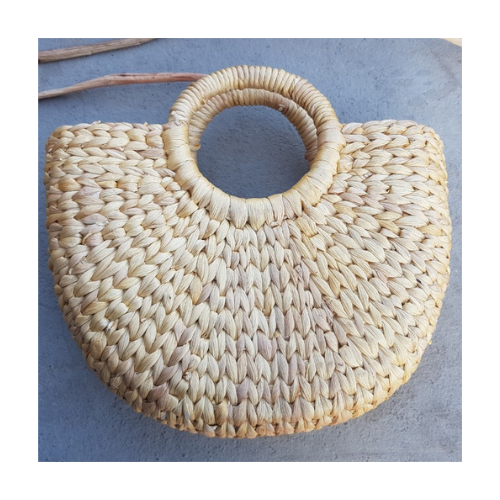 Handmade Rattan Woven Round Women Crossbody Bag / Vintage Straw Square Bag / Lady Summer Beach Bohemian Shoulder Bags