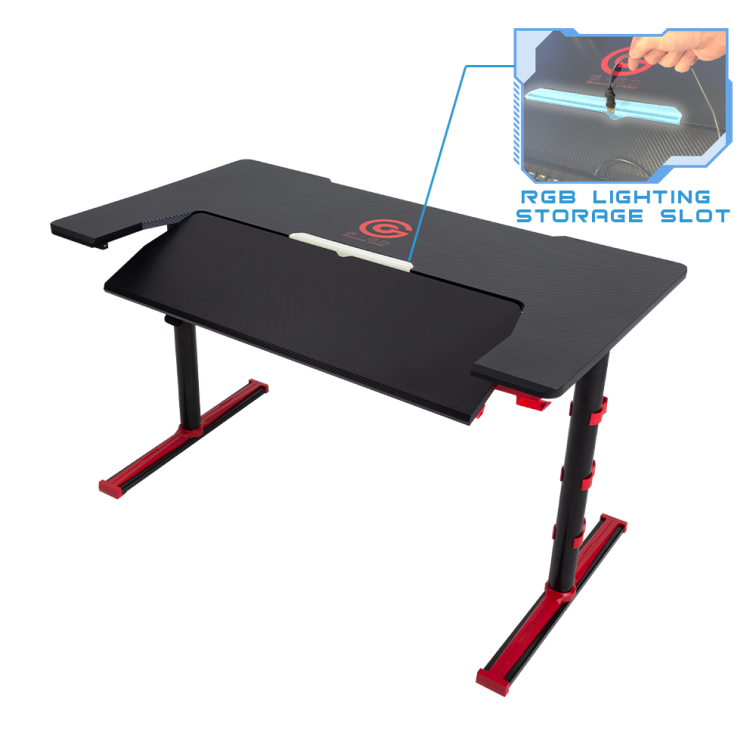Factory direct LED gaming desk computer table adjustable with RGB with cheapest price