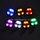 LED Light Up Multi-color Promotional USB Rechargeable LED Key Ring Light for gifts Luminous Pendant For Party Decoration