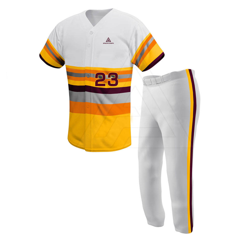 Best Design Men Softball Uniforms Wholesale Baseball Uniform