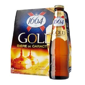 French Kronenbourg 1664 Gold Beer