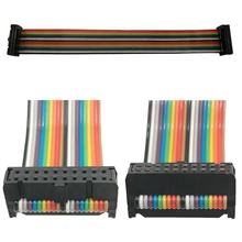 Double  2*2 3 4 5 6 7 8 9 10 11 12 13 14 15 16 20 25 or 30 32 40 pin rainbow flat ribbon cable wire harness or idc cable