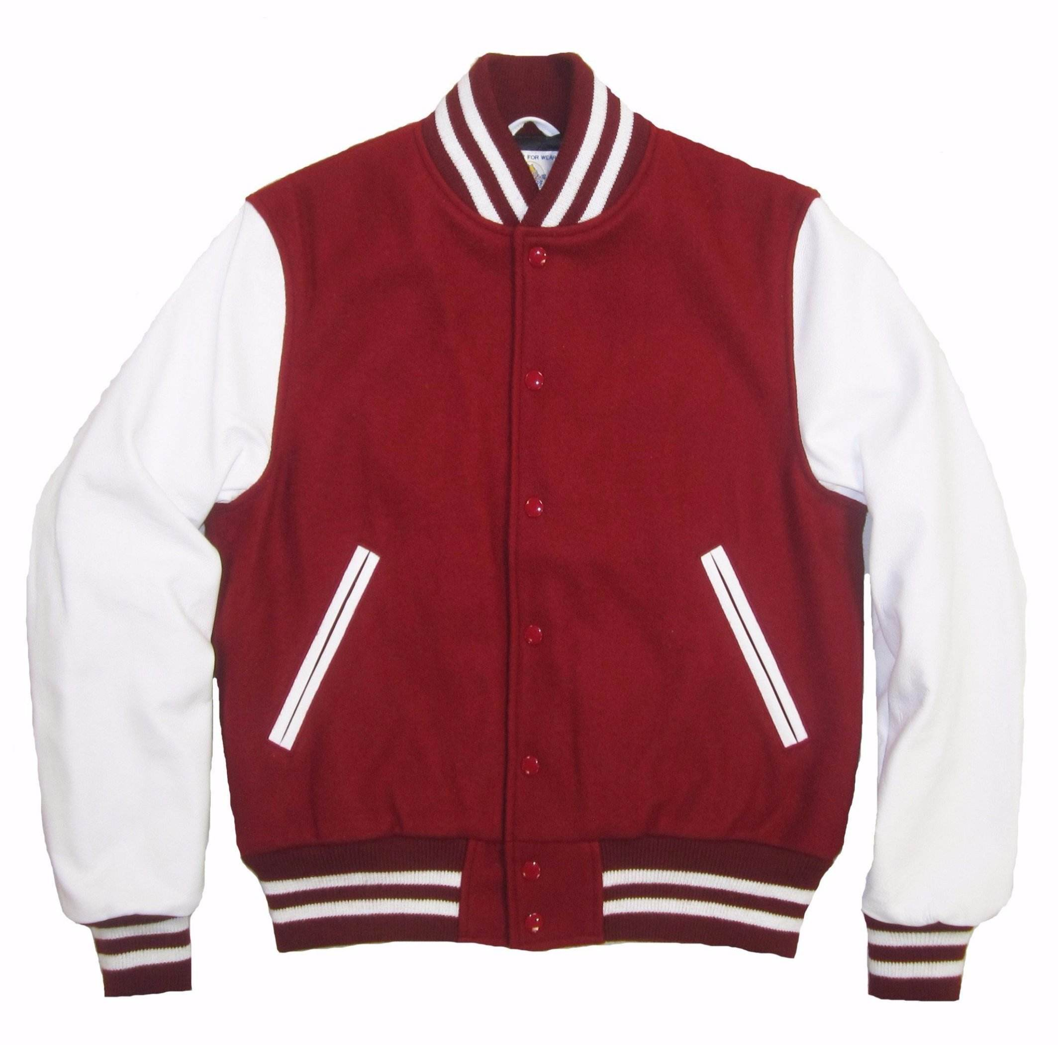 Letterman Varsity Jacket customized Leather colors and Melton Wool