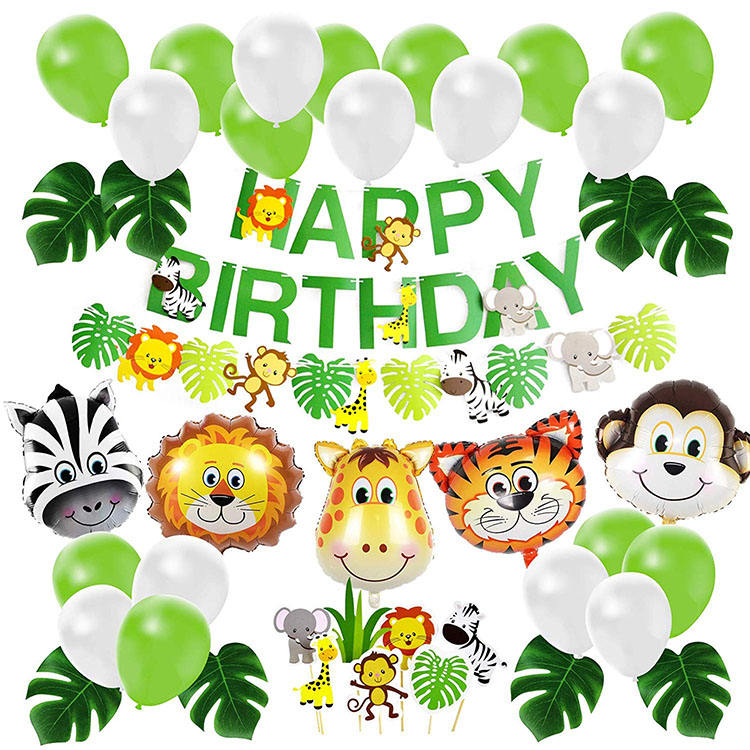 Nicro Decoration Farm Safari Animal Birthday Party Supplies