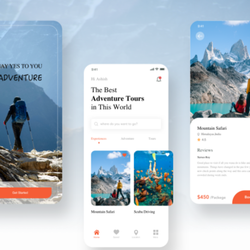 Top Notch Tour Package Booking App design | Android/IOS Travel Booking App