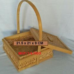 Bamboo Square Basket with cover