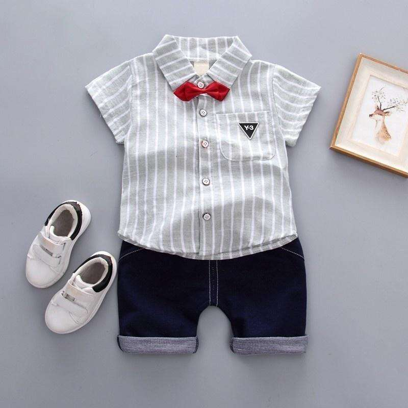 Clothing Sets Baby Boys Christening Outfit Toddler Clothes White Plain Cotton Summer Embroidery Oem