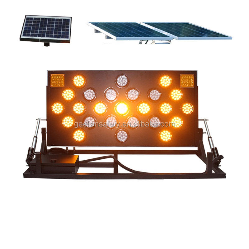 1200*600 Mm Folding Stand Verkeer Led Arrow Board Led Display Solar Led Traffic Sign Gids Teken