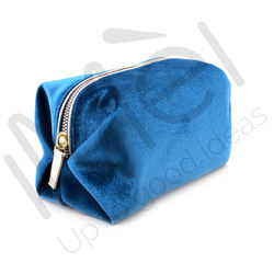 TOP QUALITY VELVET  CASE WITH LEATHER PU PIPING