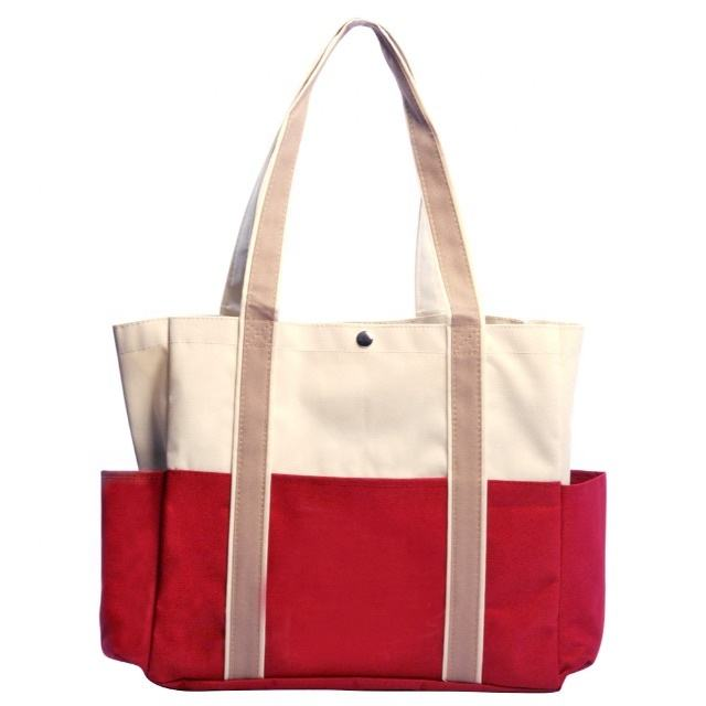 Premium Quality Multi-Pocket Canvas Tote Bag For Casual/Outdoor Purpose.