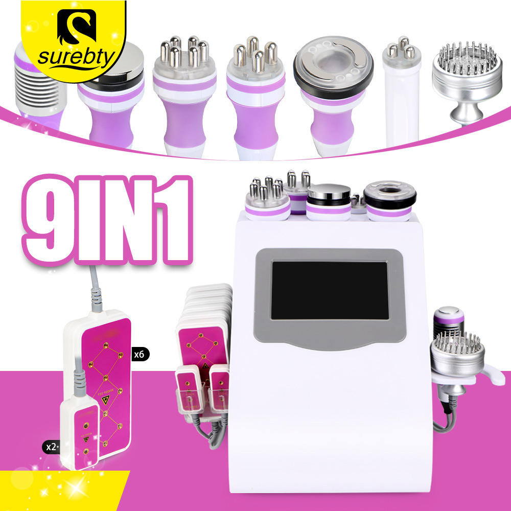 Tốt Nhất Body Shaping Lipo Laser Slimming Vacuum Cavitation RF Fat Giảm 40K Siêu Âm Cavitation Beauty Salon Máy