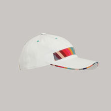 Men's Baseball Piping Sandwich White Cap Made in Italy