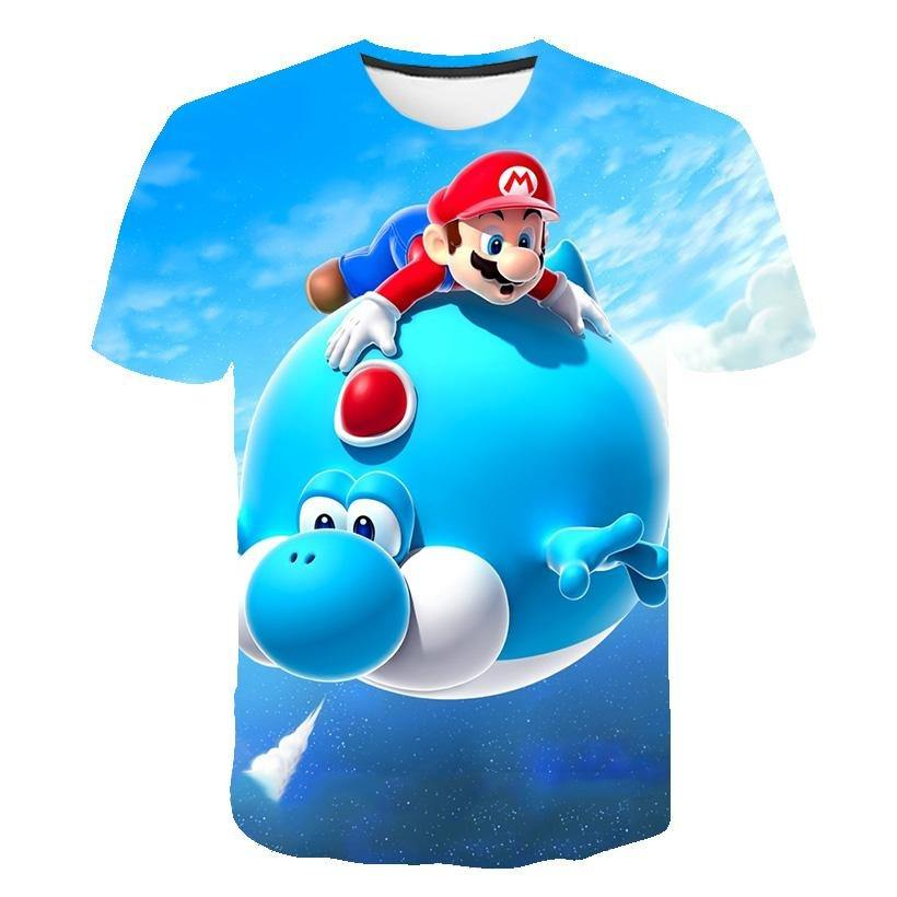 Latest Harajuku Classic Games Super Mario Kid t shirt Men/Women Super Smash Bros 3D print T-shirt Hip Hop tshirt Streetwear Tops