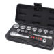 Japan hot sale wrench tools 3/8 DR Hand socket set 11 pieces (with case)