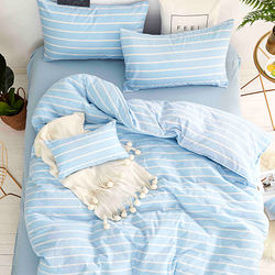 Washed cotton bedding set-Soda water(Double/Queen)
