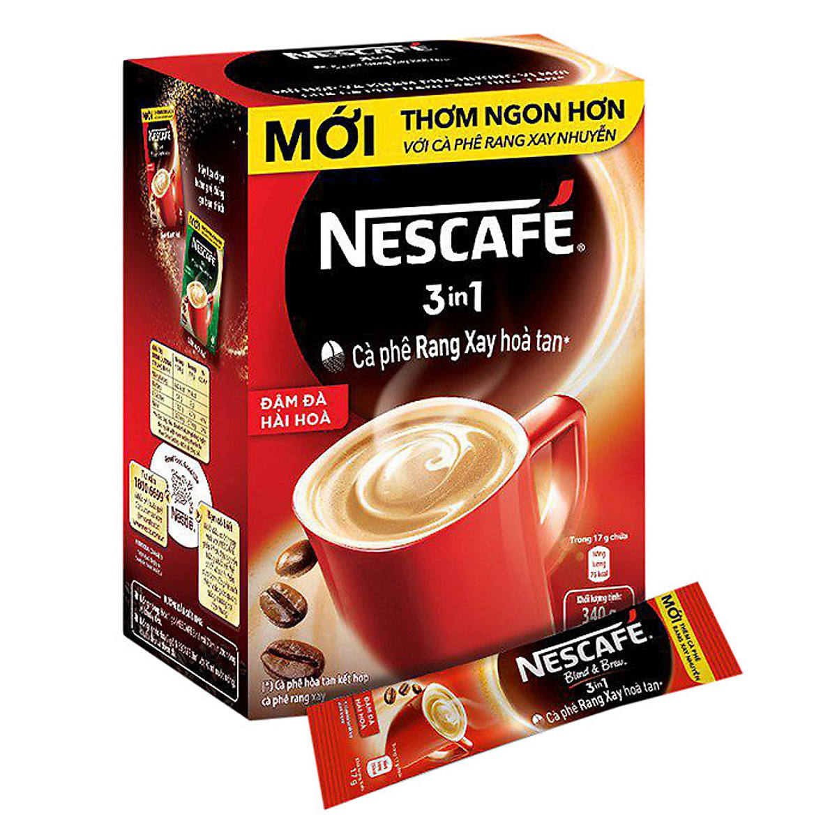 Nes Cafe 3 In 1 Harmonious Rich Instant Roasted Coffee 340g Pack 20 - Coffee+ Roaster Bag