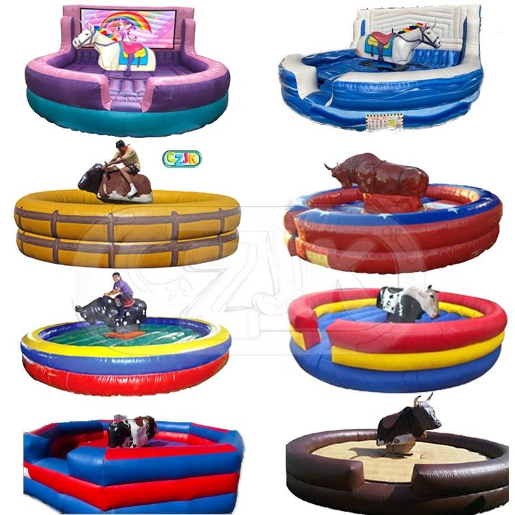 เด็ก Commercial Ride Machine เกม Rodeo Inflatable Mechanical Bull ให้เช่า
