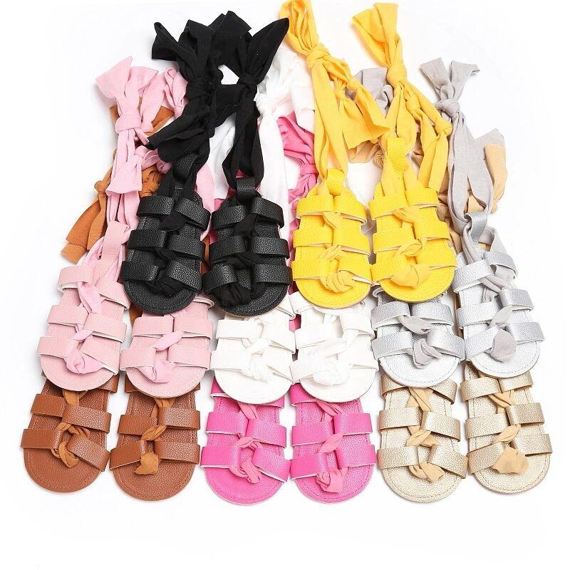 Fashion Infant Summer Girls Kids Pink Toddler Baby Gladiator Sandals