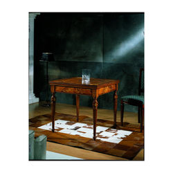 Made in Italy high quality Inlaid square game table