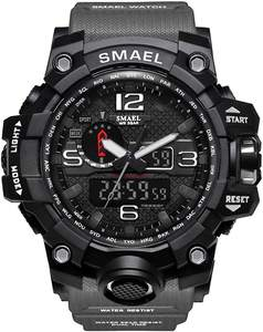 Plastic Roubd Smael Men's Military Sports Watch