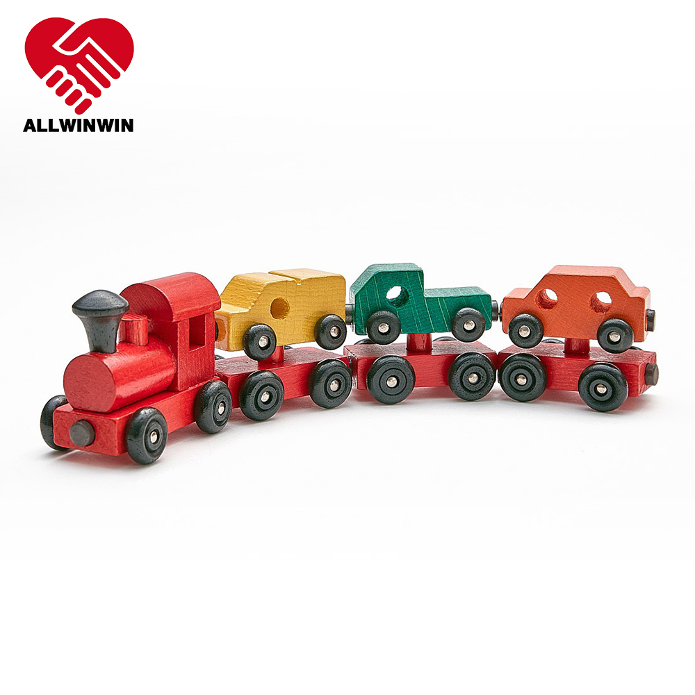 ALLWINWIN WTR03 Wooden Train Set - Vehicle Transportation Car Truck Van Magnetic Best Gift