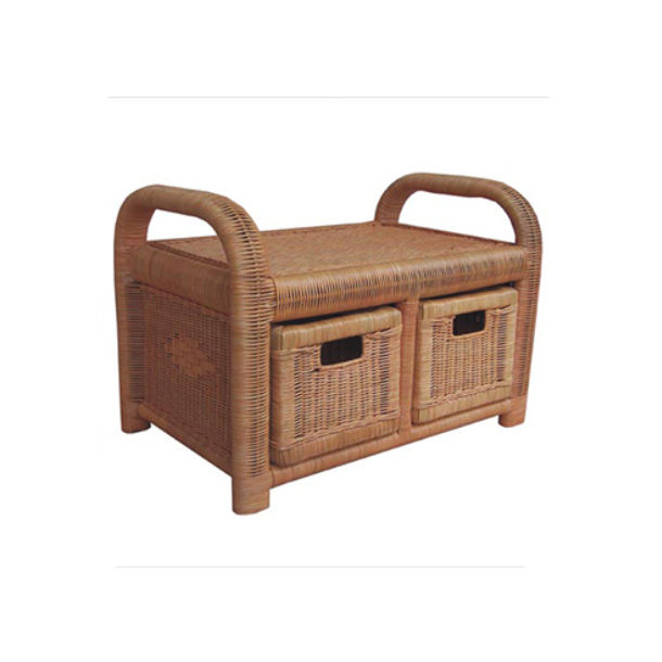 Rectangle Rattan Stool With Drawer - Best Drawer For Your Space