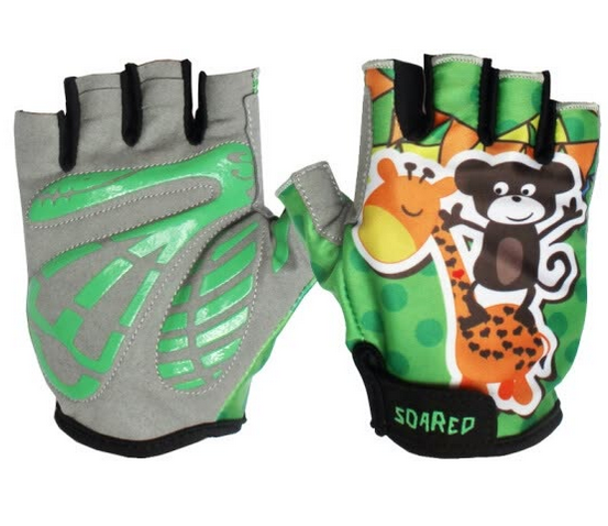 Custom Desirable Design Sublimated Lycra Printed on Back Children Cycling Gloves Half Finger Quick Drying Breathable Anti-sweat