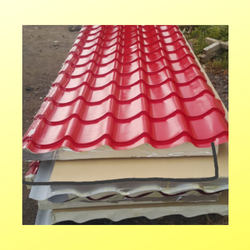 Tile look sandwich panels / Tile design roof sandwich panels