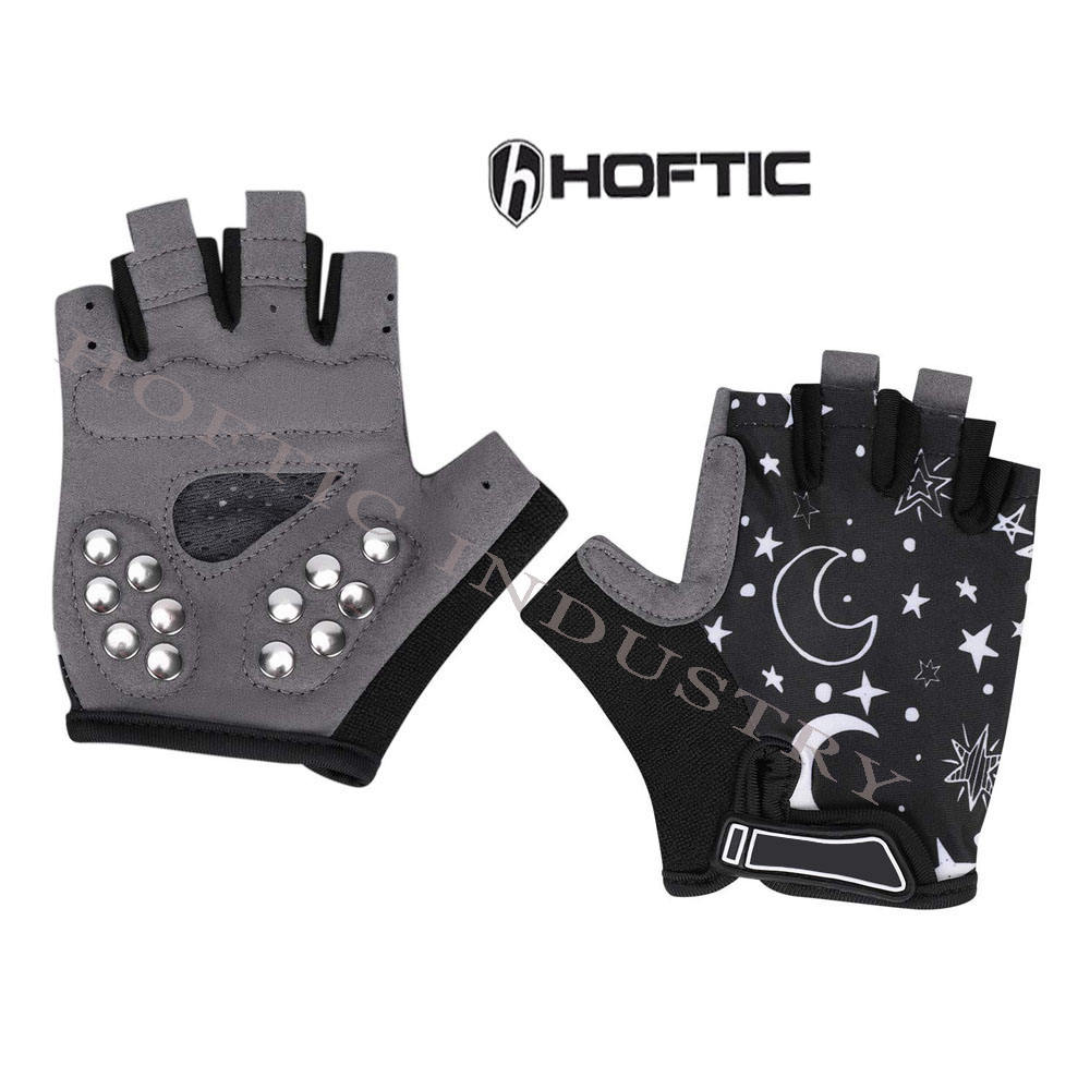 Breathable Sublimated Children Cycling Gloves