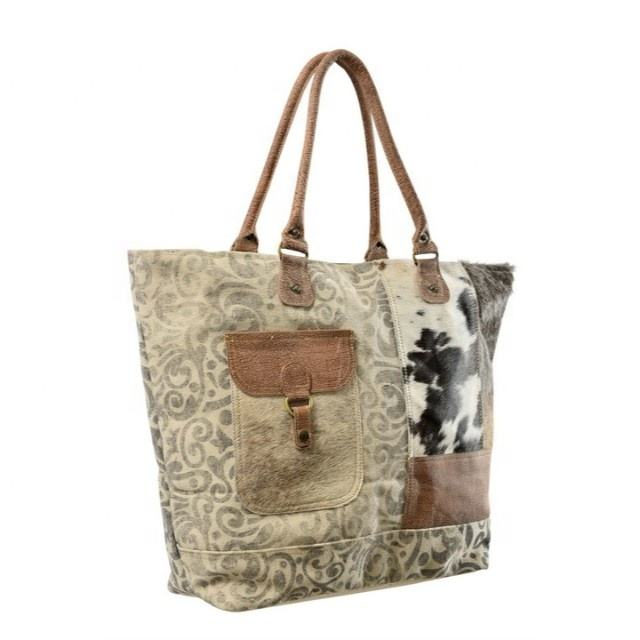 Indian Cotton Canvas Tote Shopping Bags 2019 Women canvas big bags lady bags tote leather handbag