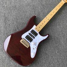 Custom Solid Electric Guitar Maple Fingerboard in Win Red