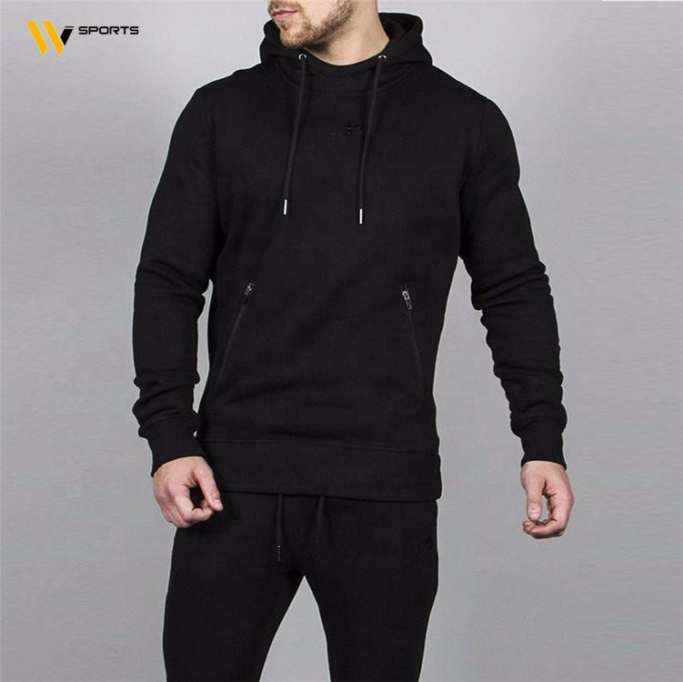 High Quality tracksuit for custom Sports Black Tracksuit