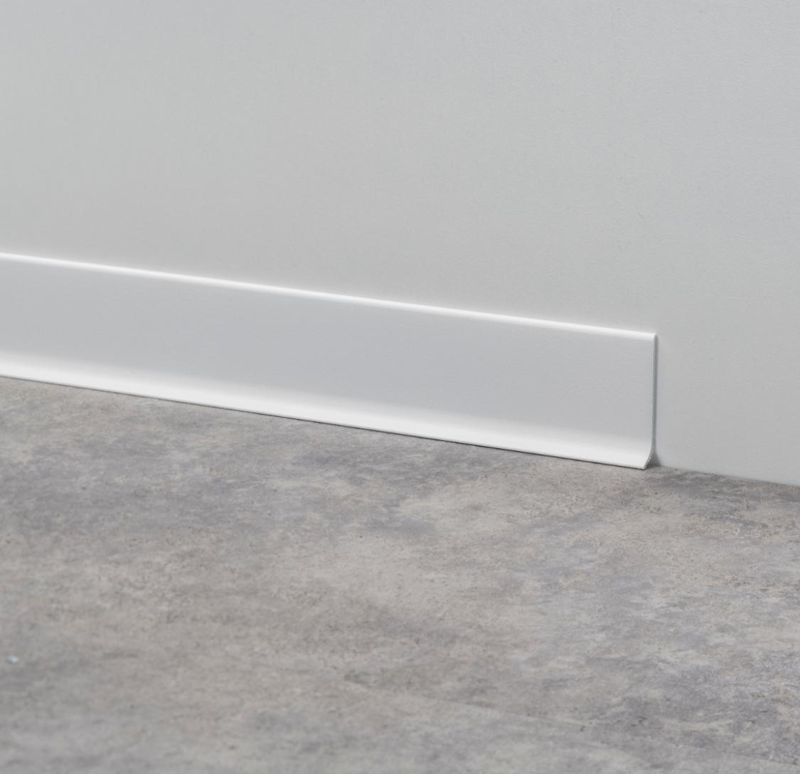 Self-adhesive Aluminum Skirting Profile 60mm Wall Protector Base Curved Metal Coved Skirting Board Baseboard