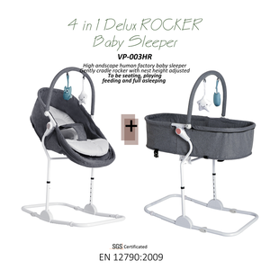 Hot sell recreation and leisure design portable 4 in 1 seat height adjusted and seat back recline baby napping rocker chair
