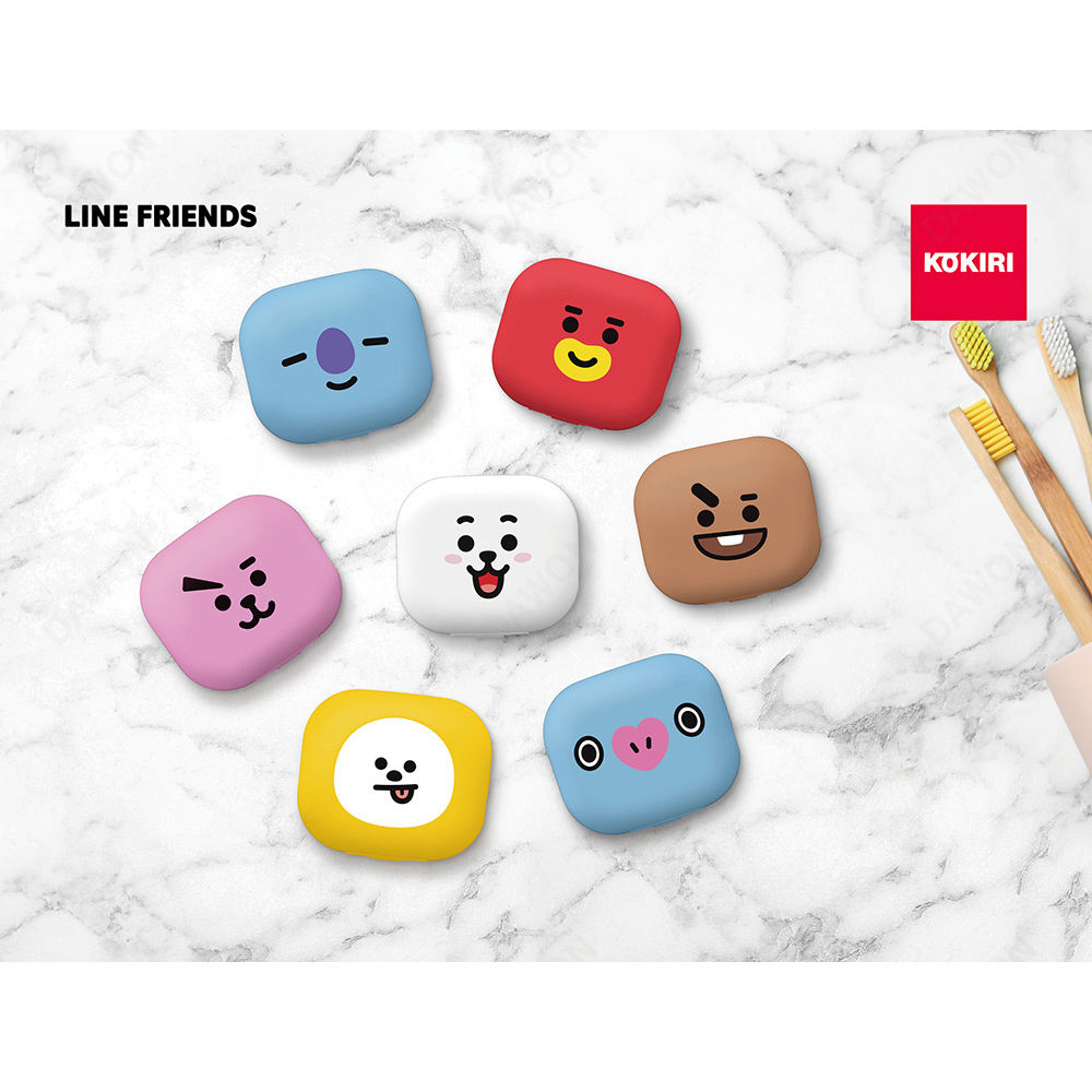 라인 친구 BT21 공식 칫솔 살균기-CHIMMY,COOKY,KOYA,MANG RJ,SHOOKY,TATA
