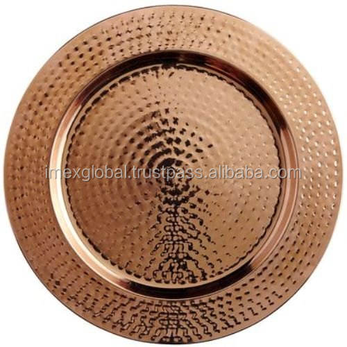HAMMERED COPPER CHARGER PLATE