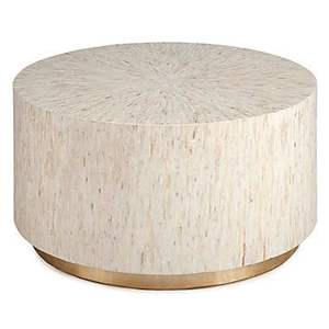 High quality mother of pearl inlay round coffee table from Vietnam
