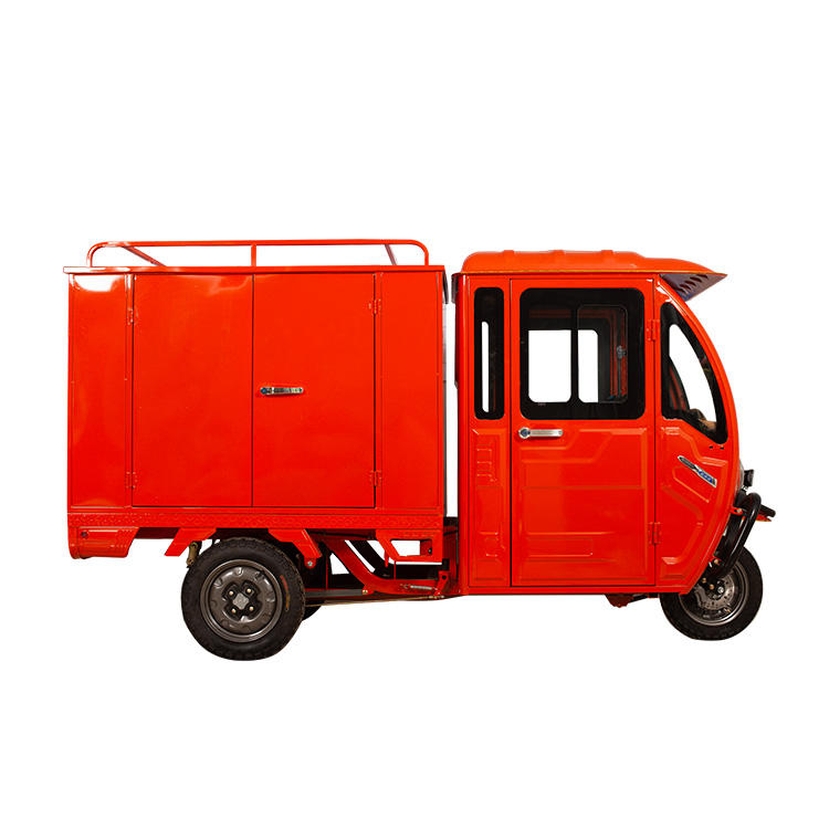 Enclosed Cabin Cargo Tricycle Vehicles Delivery Tricycle Electric