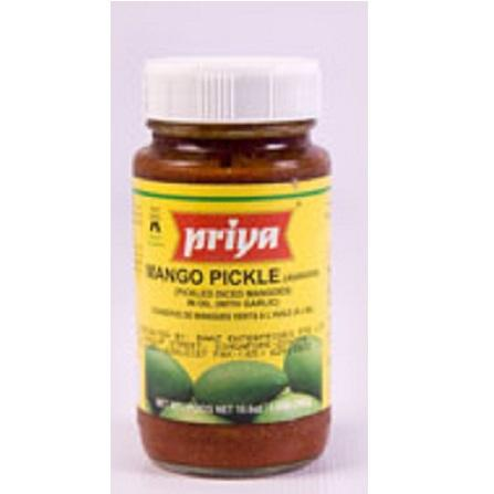 Glass Of Priya Mango Pickle 300グラムIn Bulk From India