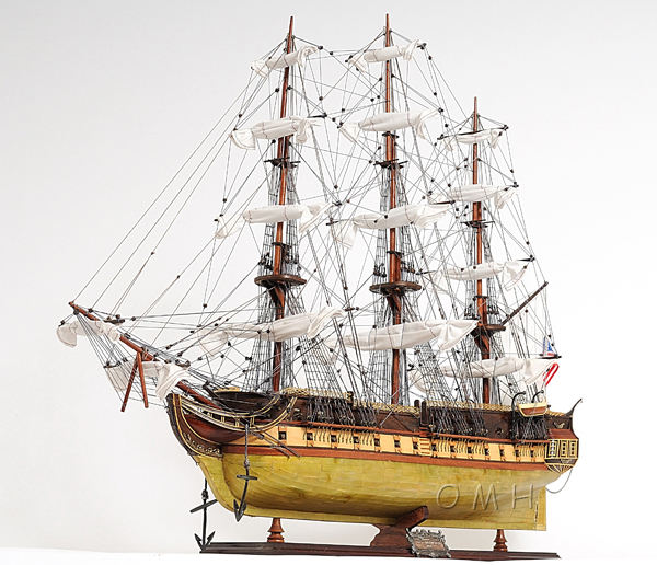 USS Constitution Brass Bottom (L80) - Wooden Model Historical Ship / Nautical Handcrafts/ Home And Office Decor/ Furniture
